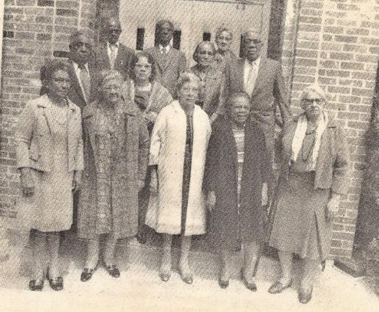 Vintage photo of Central Congregational Church members