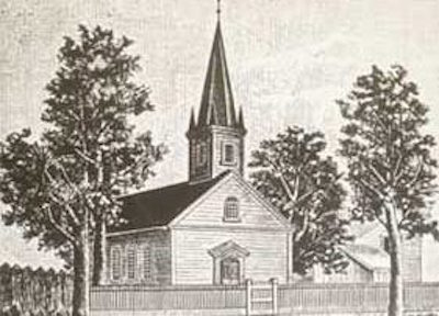 St. Matthew Evangelical Church, original building, erected in 1849